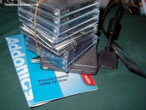 AD-160  AEPZIP Laptop PCMCIA 100MB Zip Drive Addonics