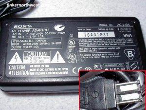 Sony Handycams Cybershot Mavica AC Adapter AC-L10A