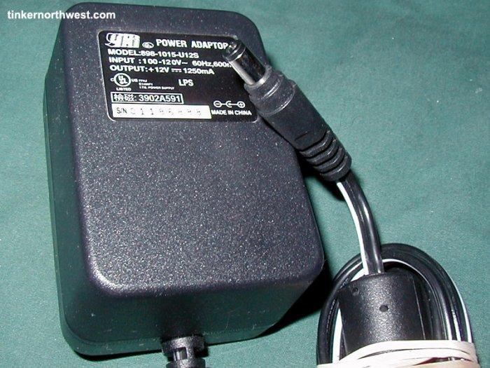 Yhi 898-1015-U12S 12V HP Scanjet 2300C AC Power Adapter
