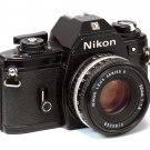 Nikon EM SLR Film Camera with Nikon Nikkor E 50mm 1.8 Lens