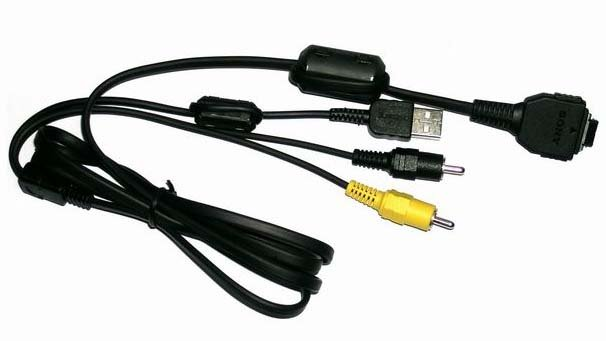 Digital Camera USB and AV Cable for Sony