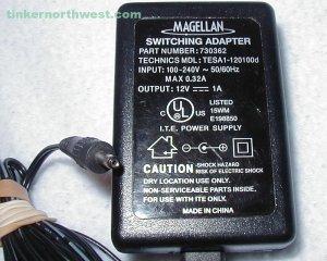 Magellan RoadMate AC Power Adapter 730362 TESA1-120100d