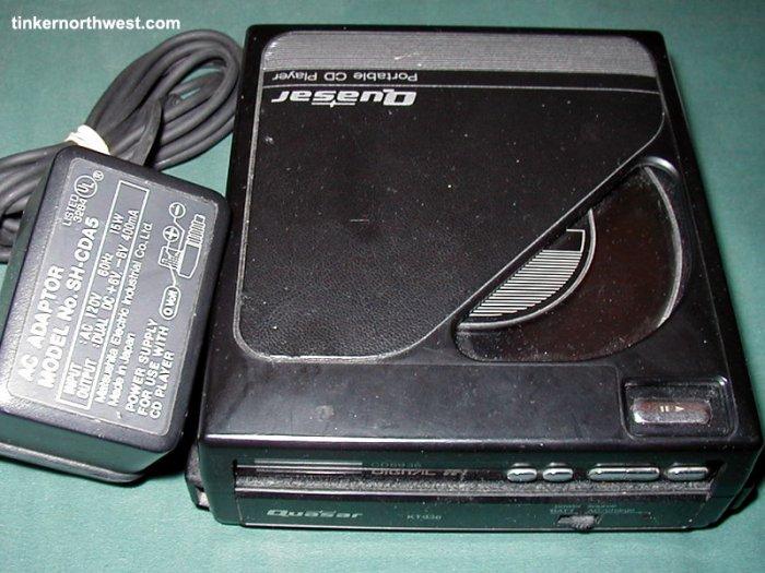 Vintage Quasar Portable CD Player CD8936 KT936