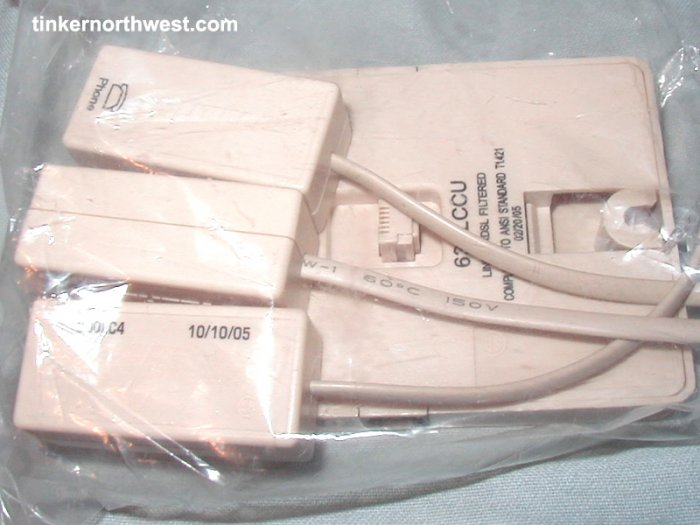 SHUTTLE DSL PHONE LINE FILTERS 3 PK + 1 WALL