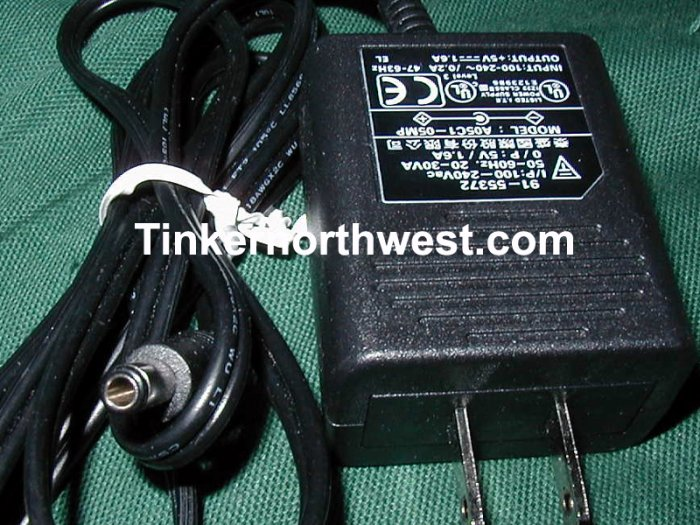 AC Power Adapter AK II A05C1-05MP 91-55372 5VDC 1.6A