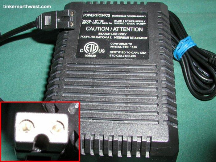 SP-120 AC Power Adapter 13VDC 5A Powertronics