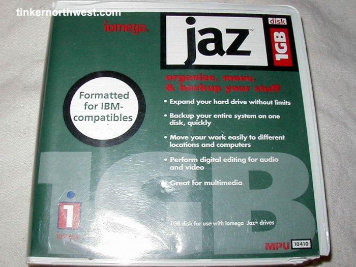 Iomega Jaz 1GB disk 1GB Mac or PC format