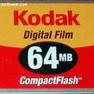 Kodak 64 MB Compact Flash 64MB CF Media Memory Card