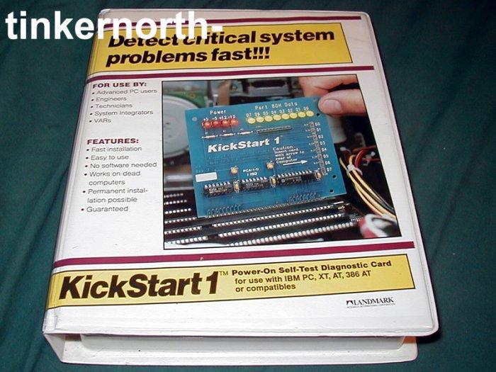 IBM PC XT AT 386 AT KickStart 1 Power-on Diag Card