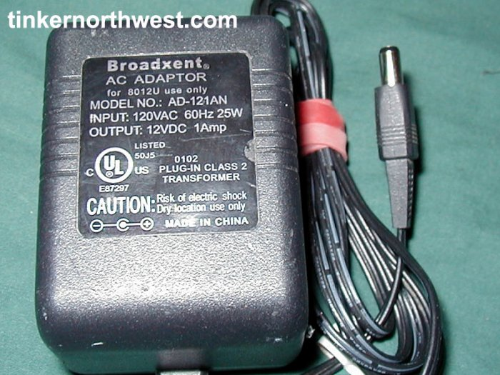 Broadxent AD-121AN AC Power Adapter 12VDC 1A