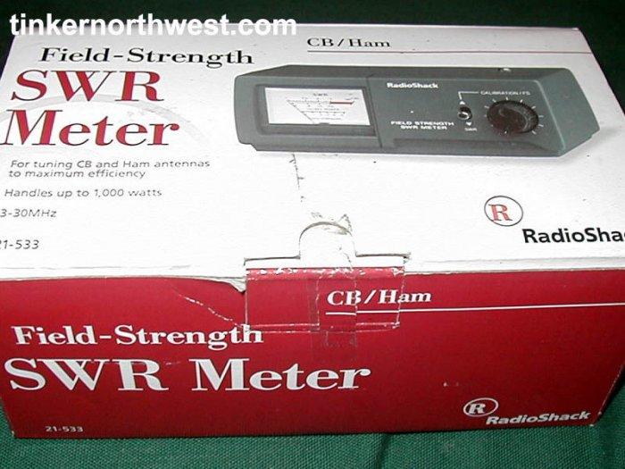 Radio Shack SWR Field Strenght Meter 21-533 3-30MHz