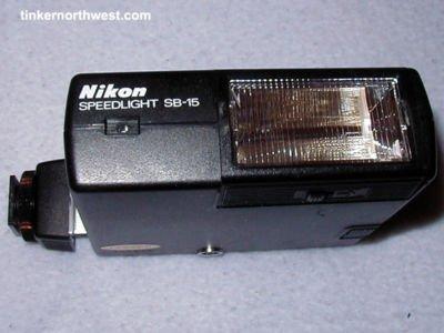 NIKON SPEEDLIGHT SB-15 SB15 FLASH FOR FA FG FM2 FE2 F3