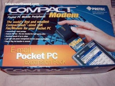 HP Pretec CompactFlash 56k Pocket PC/Laptop Fax F1839A