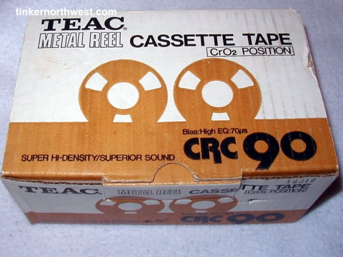 TEAC METAL REEL TO REEL CASSETTE TAPE CRC 90 GOLD NIB