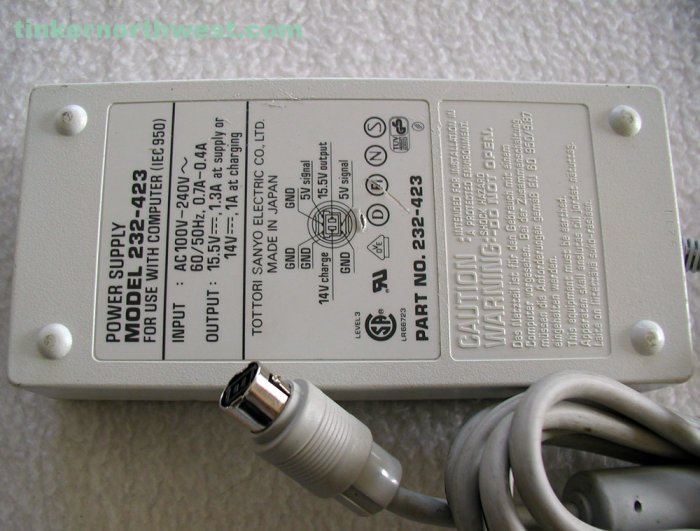 Sony 232-423 AC Power Adapter Charger