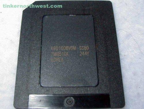 128MB SmartMedia Samsung K9D1G08VOM-SSBO Memory Card
