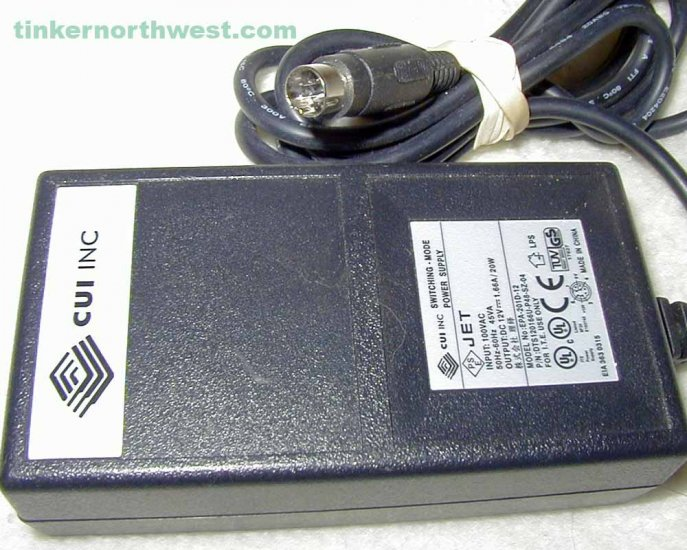 EPA-201D-12 Jet AC Power Adapter CUI Stacks 12VDC 1.66A 20W Supply
