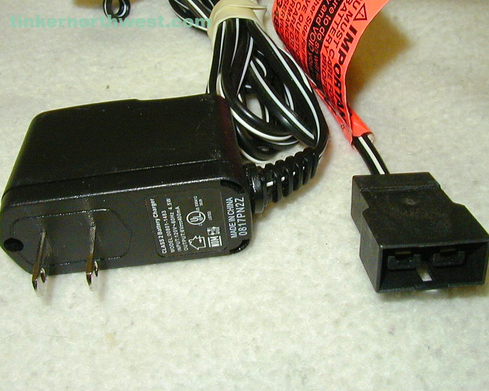 POWER WHEELS 6V RED BATTERY CHARGER 00801-1481