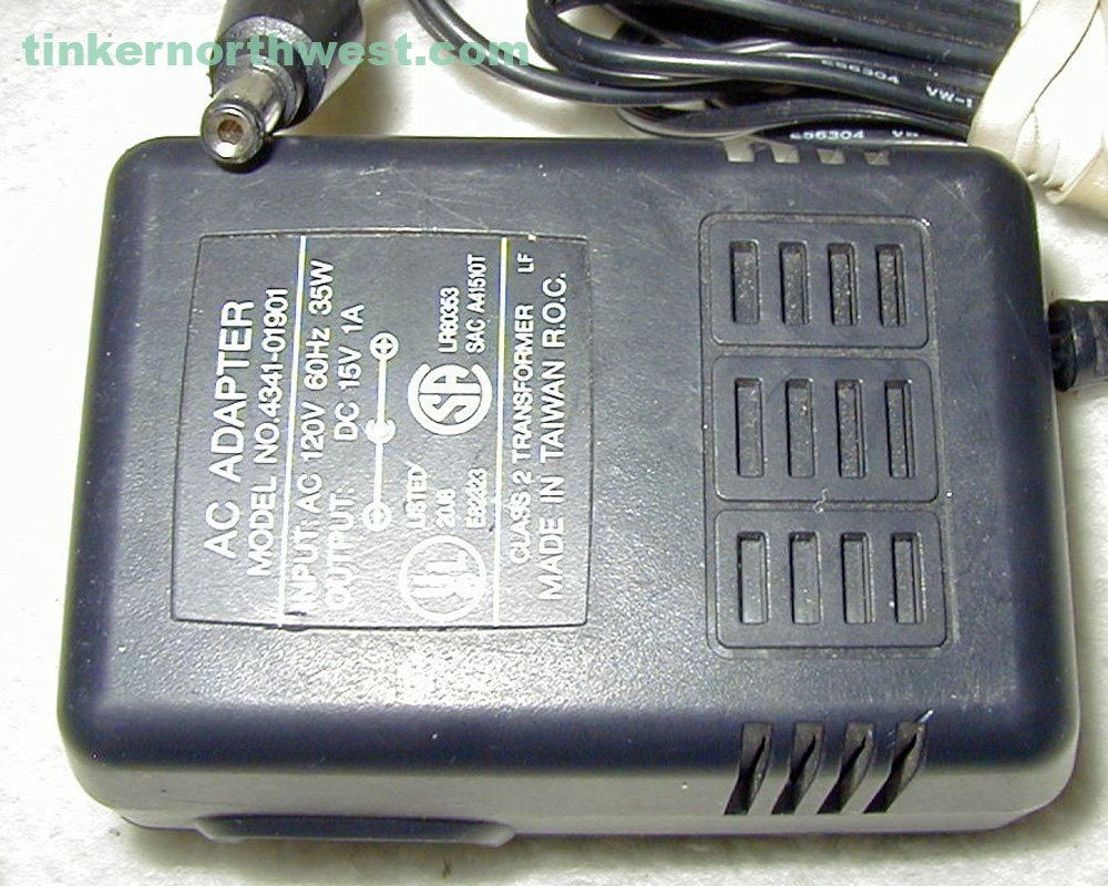 4341-01901 AC Power Adapter 15VDC 1A Supply