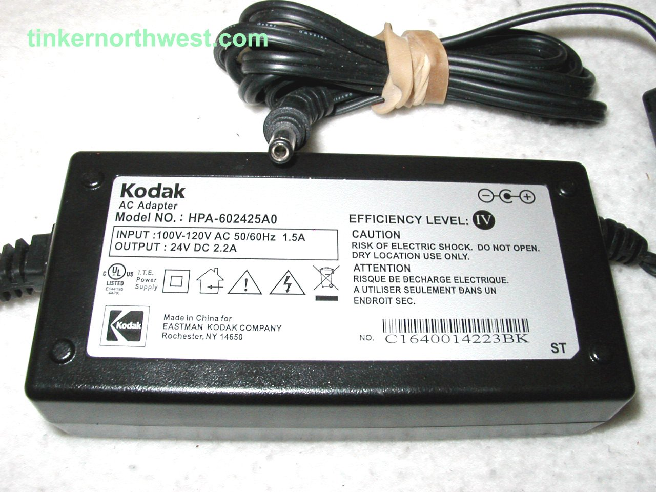 Kodak HPA-602425A0 AC Power Adapter 24VDC 2.2A Easyshare