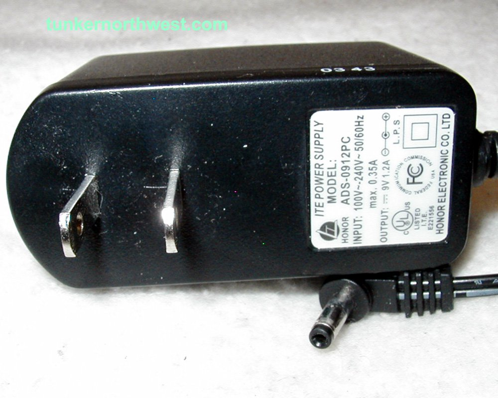 ADS-0912PC Honor AC Power Adapter 9VDC 1.2A