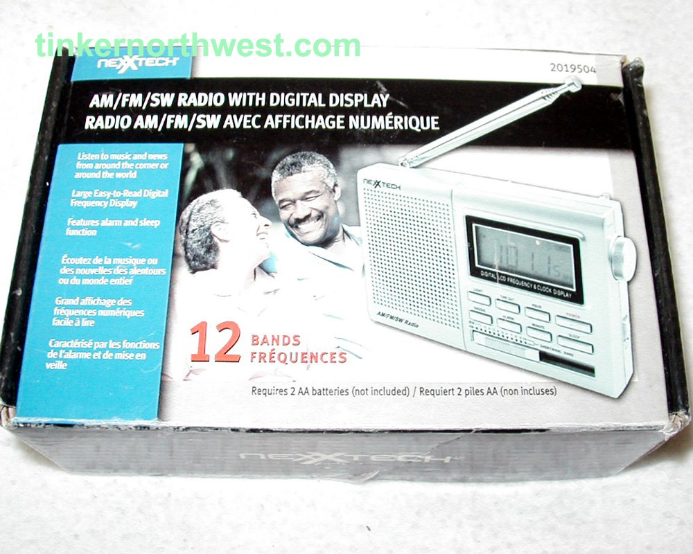 NexxTech 2019504 12 Bands AM FM SW Radio with Digital Display