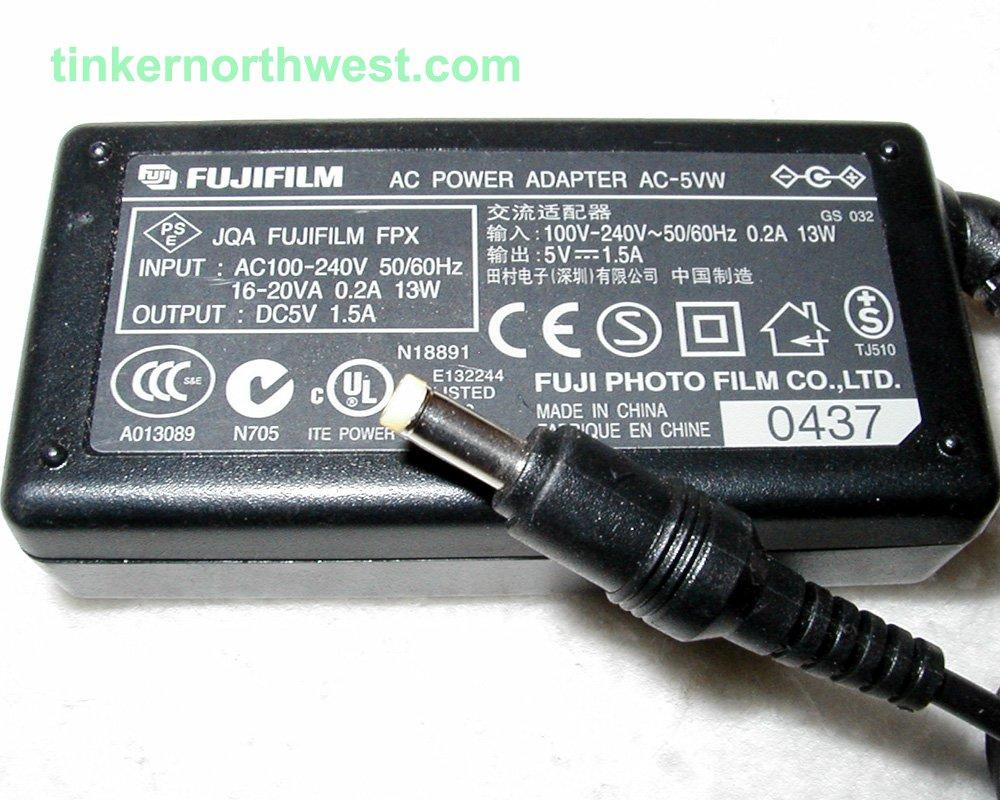 AC-5VW Fujifilm AC Power Adapter OEM Genuine Supply