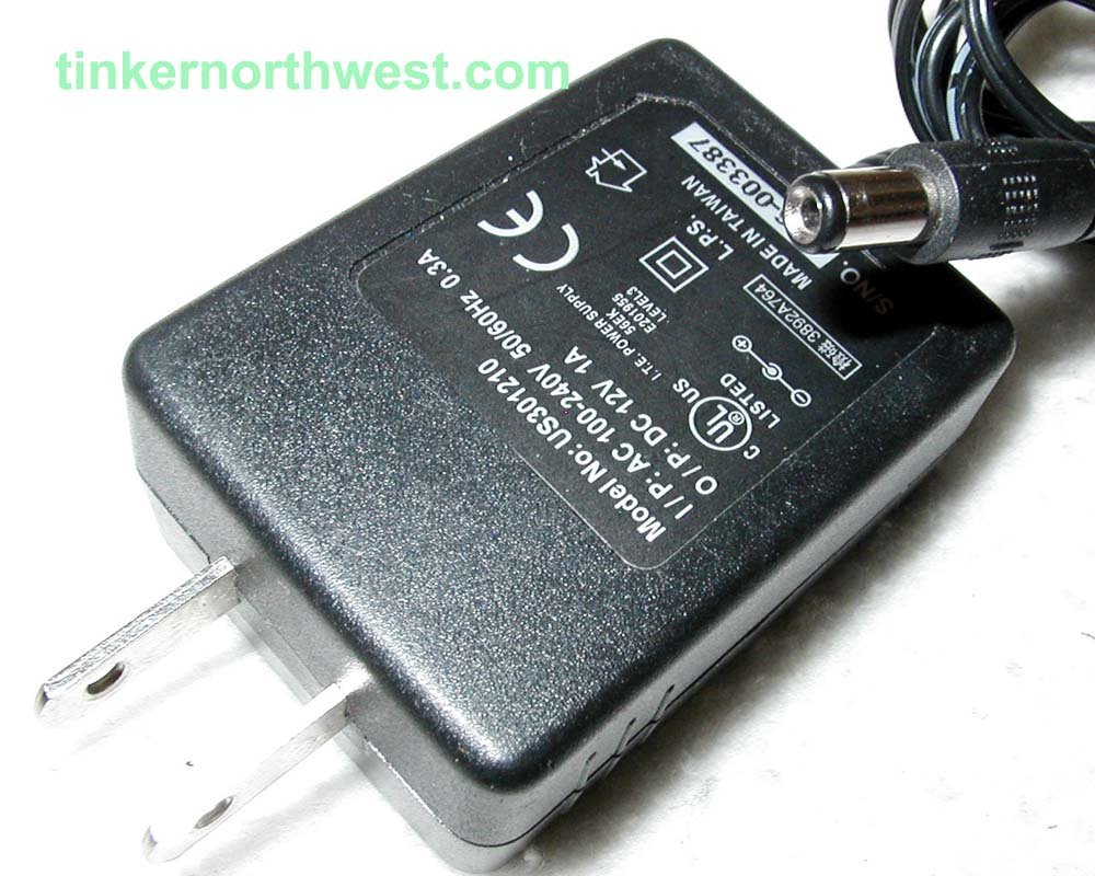 US301210 AC Power Adapter 12VDC 1A Supply