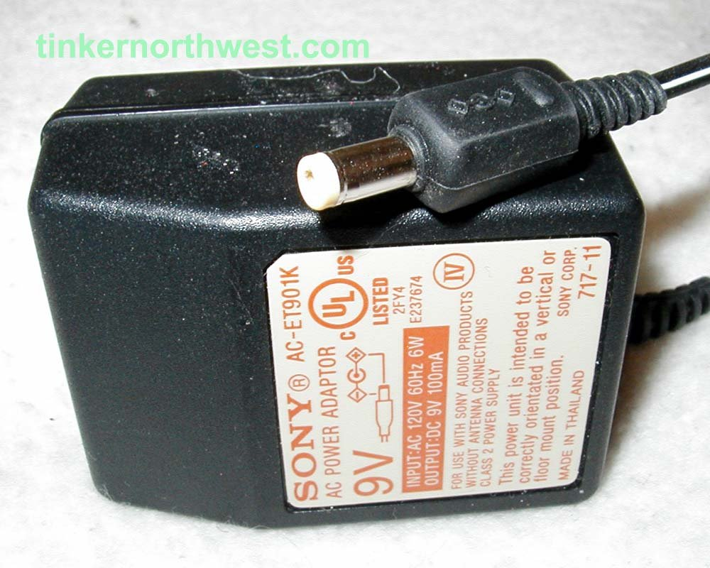Sony Ac Et901k Ac Power Adapter 9vdc 100ma Supply