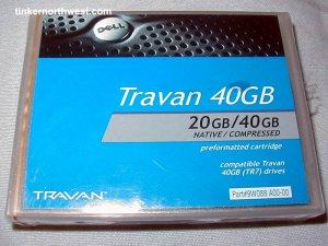 DELL TRAVAN 40GB PREFORMATTED CARTRIDGE 09W088