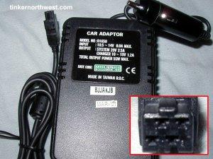 D1650 Car Adapter Umax Actionbook 312T,316T,318P,318T