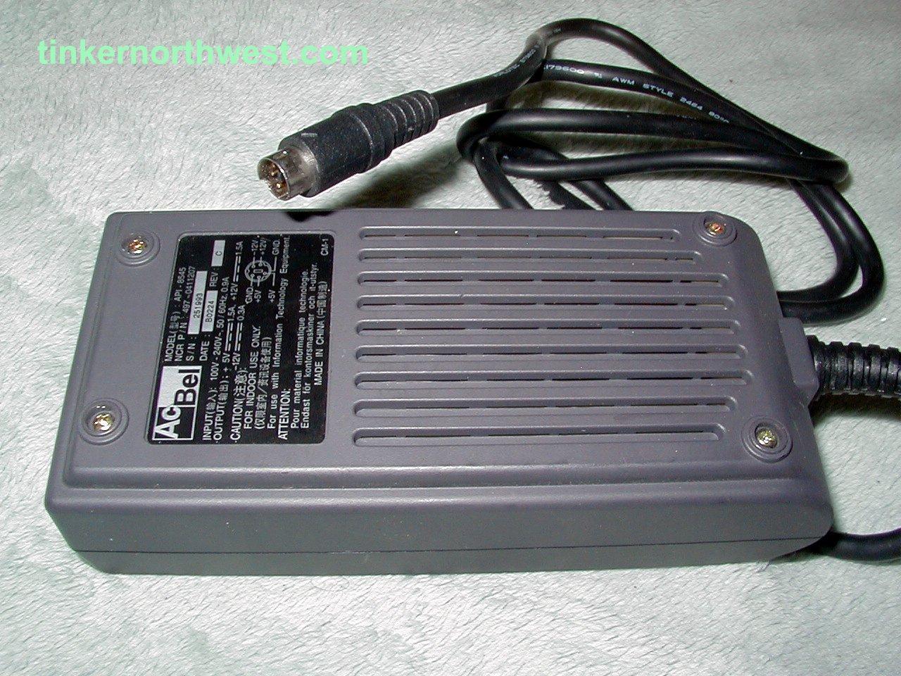 AcBel API-8545 AC Adapter 12V For NCR 7800 Barcode Scanner