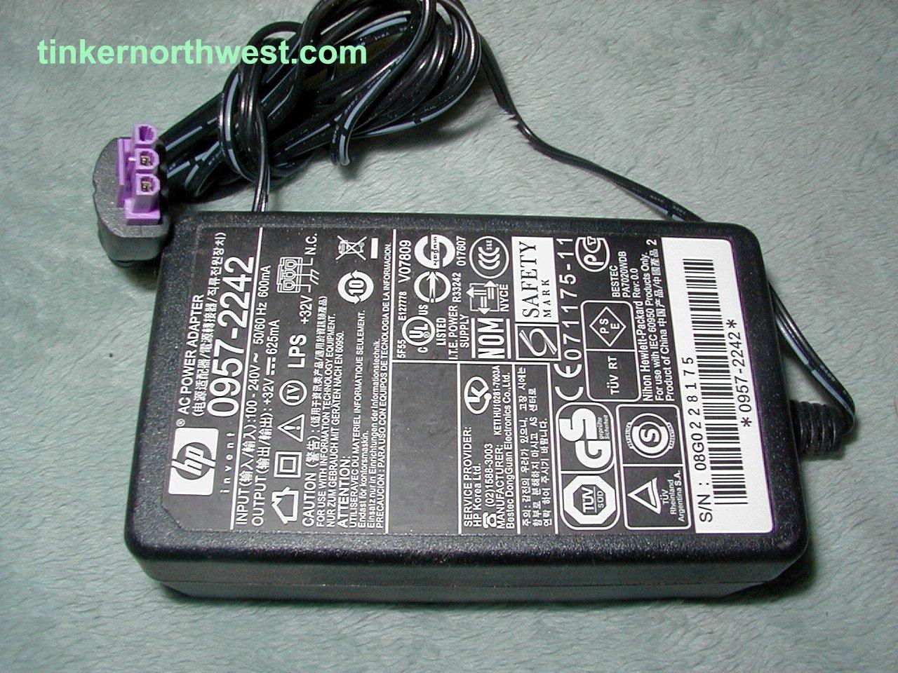 HP 0957-2242 AC Power Adapter Printer Supply