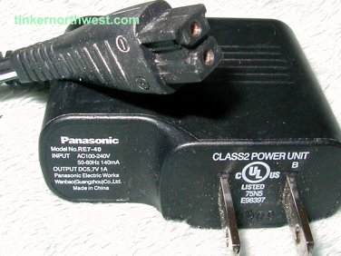 Panasonic RE7-40 AC Power Adapter Supply Charger