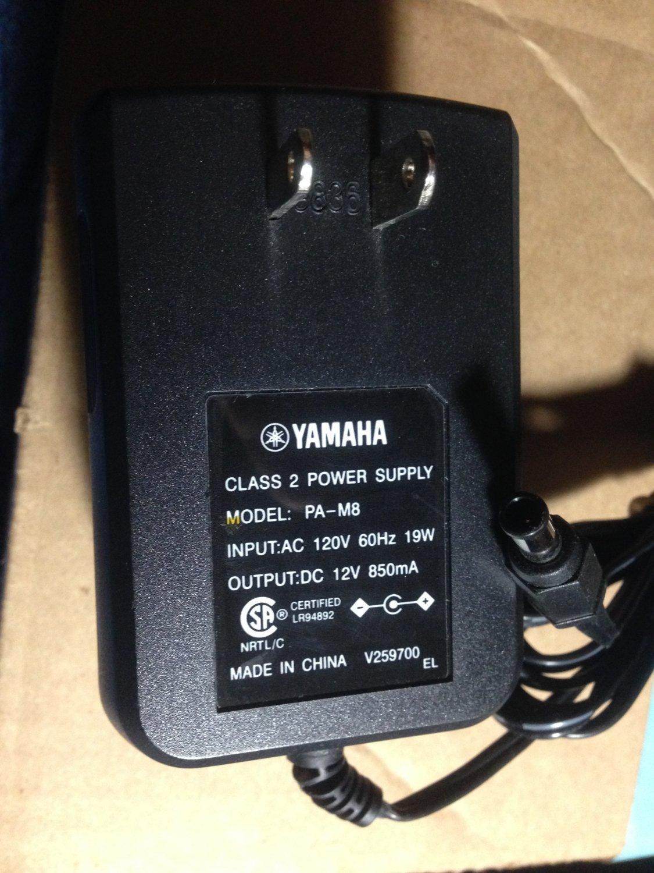 Yamaha PA-M8 AC Power Adapter Keyboard supply