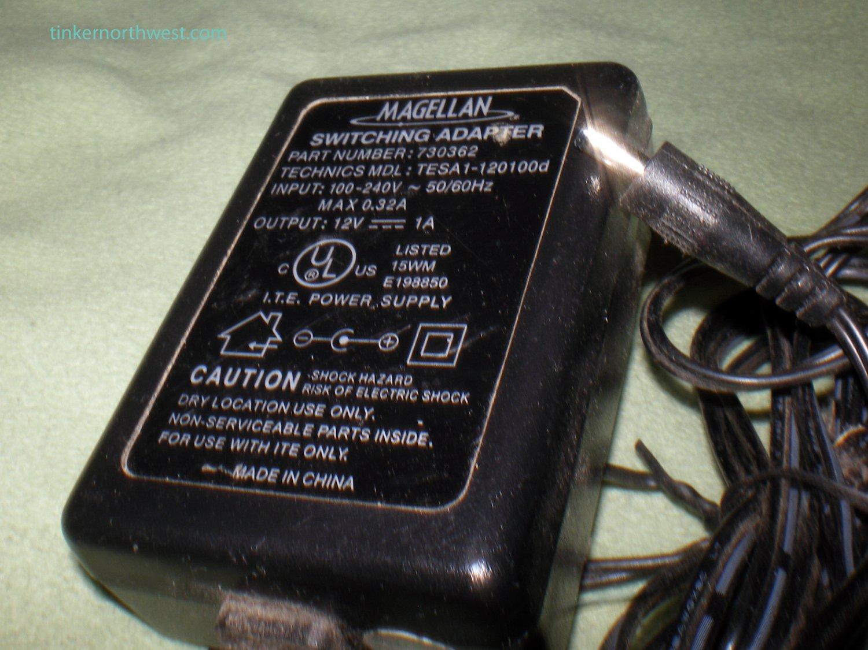 Magellan Roadmate AC Power Adapter OEM Supply 730362 TESA1-120100d 12V 1A