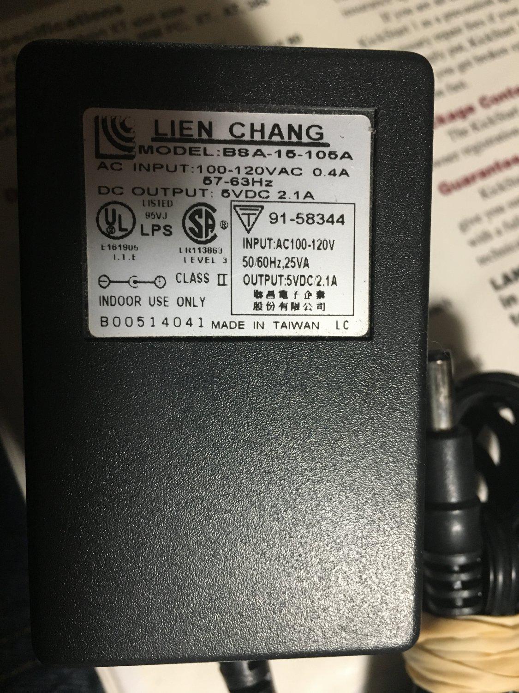 BSA-15-105A AC Power Adapter 5VDC 2.0A