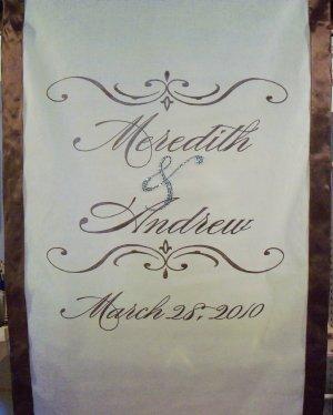 Aisle Runner Wedding Monogram Runner Decor White Ceremony Isle Runner Decoration