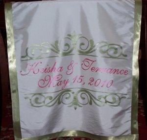 Wedding Monogram Table Runner Reception Decor Head Table Runner Centerpiece