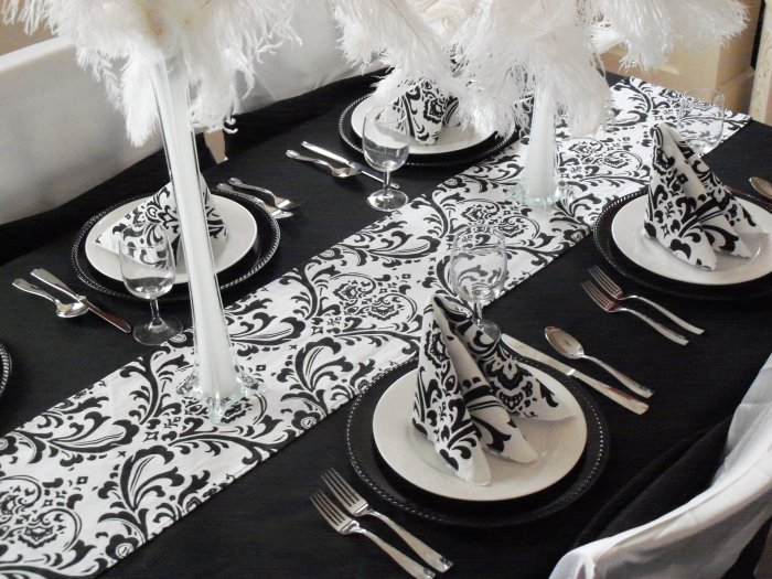White Runner Table Centerpiece Decor