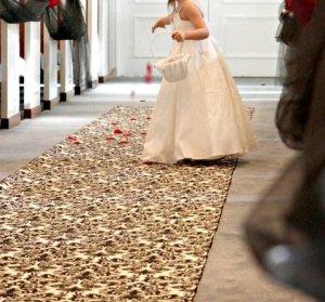 Wedding Aisle Runner Floral Damask Black and Ivory Fabric Isle Runner Ceremony Decor
