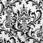 Black and White Floral Damask Table Square Overlays Wedding Table Centerpiece Decor