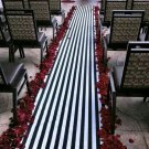 Wedding Aisle Runner Black and White Stripe Isle Runner Ceremony Decor