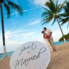 Wedding Parasol Just Married Umbrella Photography Prop White Ivory Parasol Ceremony Decor