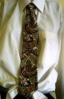 Gold with Brown Celtic Tie 0234E