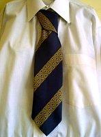 Navy Celtic Strip Tie