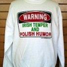 Sweatshirt Irish Temper and Polish Humor