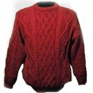 Hand Loomed Red Crewneck Sweater