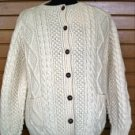 Hand Knitted Button Down Cardigan XS
