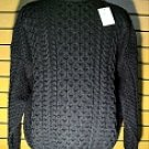 Hand Loomed Merino Wool Charcoal Sweater